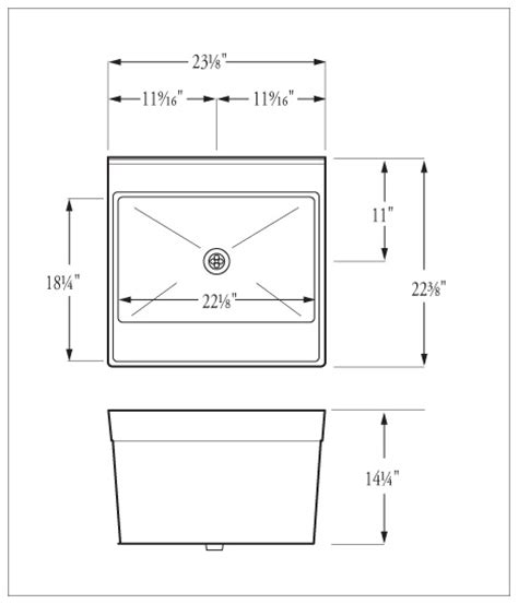 janitor sink dimensions befon for