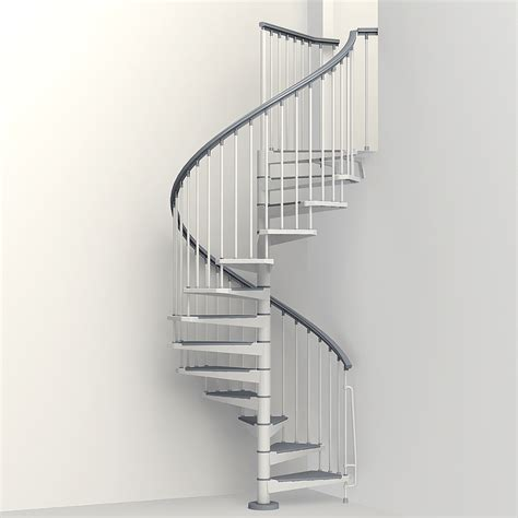 spiral staircase lowes shop arke eureka 55 in x 10 ft white spiral staircase kit at lowes com
