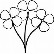 Flower Stem Clipart Black And White   Clipart Panda - Free Clipart      Black And White Flowers Clipart