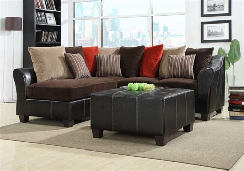 brown corduroy sectional sofa homelegance besty modular sectional sofa set chocolate