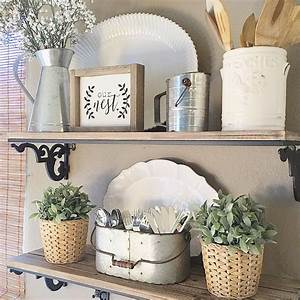 Best ideas about kitchen shelf decor on