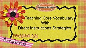 Communicative Language Teaching Teaching Core Vocabulary With Direct Instruction