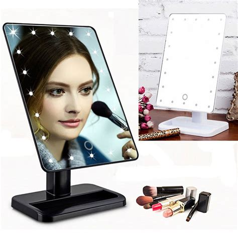 portable makeup mirror with lights led make up mirror cosmetic folding portable compact