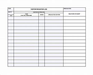 9 visitors log templates to download sample templates With visitor sign in register template