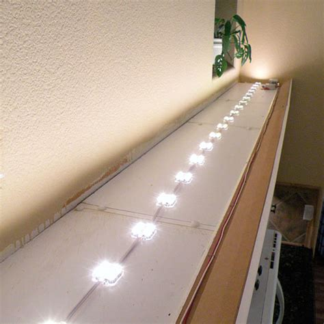 Crown Moulding Ideas For Kitchen Cabinets - above cabinet led lighting using led modules diy led projects