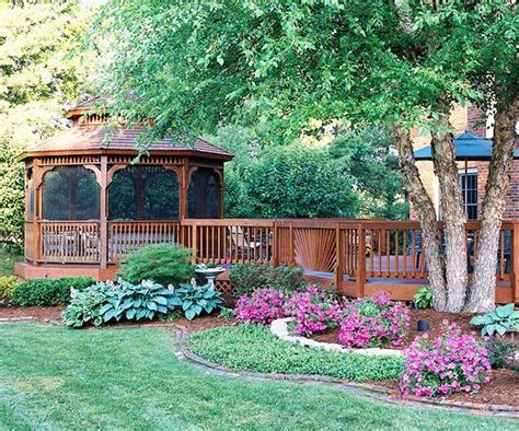 landscape gazebo graceful gazebo this one s really nice love the flowers around it too