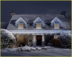 icicle christmas lights on house home design ideas