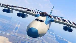 CAN 100+ PEOPLE STAND ON THE PLANE IN GTA 5? - YouTube