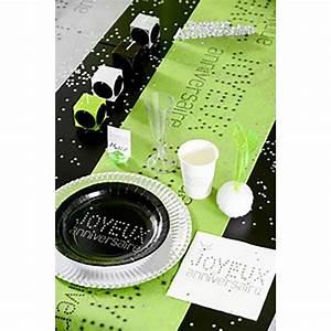 Chemin De Table Anniversaire : chemin de table joyeux anniversaire vert pomme ~ Melissatoandfro.com Idées de Décoration