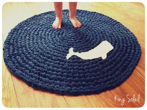 crochet whale rug nautical navy blue  white applique