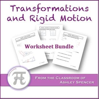 transformations  rigid motion worksheet bundle