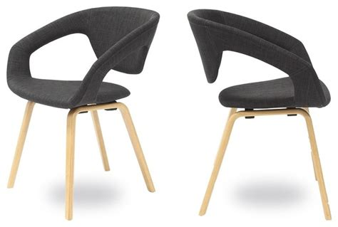 chaise fauteuil salle à manger lot de 2 fauteuils design flex back couleur gris