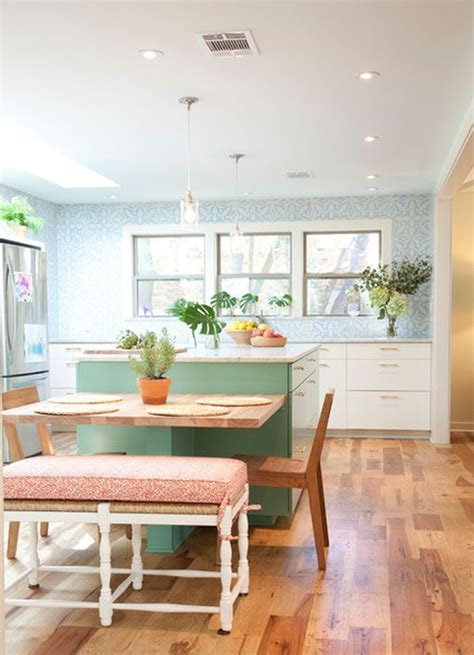 30 Kitchen Islands With Tables, A Simple But Very Clever Combo