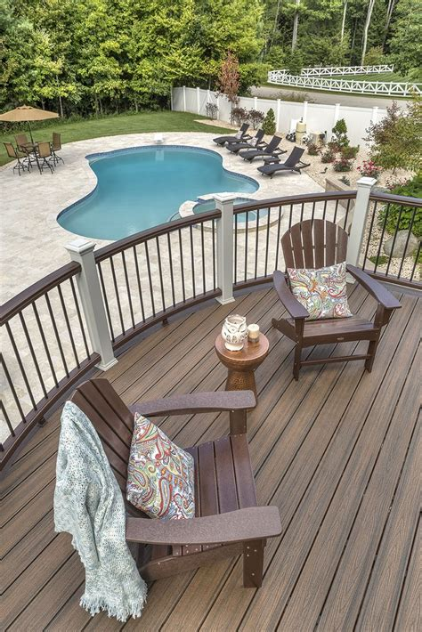 trex deck designs pictures a pool is the accessory for a trex deck deck