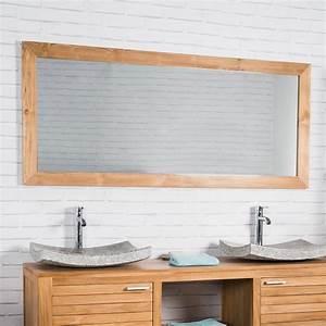 Miroir 160 Cm : grand miroir rectangle en teck massif 160 x 70 ~ Teatrodelosmanantiales.com Idées de Décoration