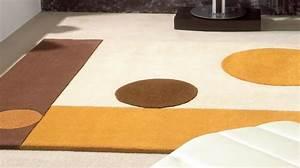 Tapis Marron Beige. tapis shaggy longues m ches hautes motifs marron ...