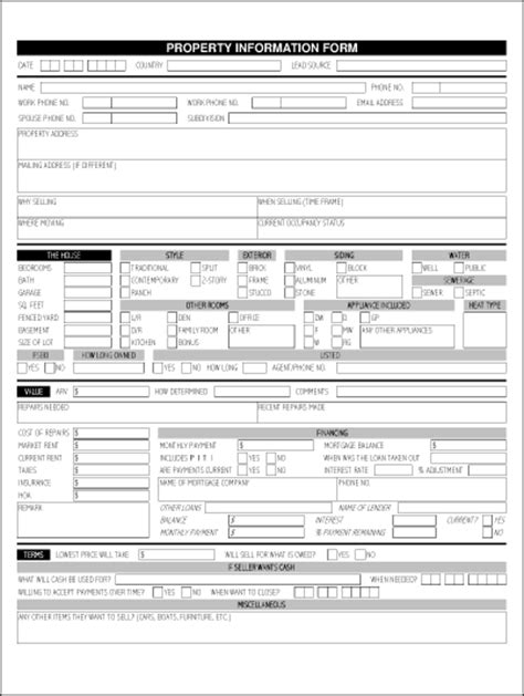 Real Estate Listing Sheet Template by Property Information Sheet Orr Real Estate Services