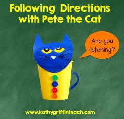 Following Directions with Pete the Cat
