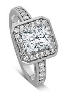 1 carat princess cut engagement ring 1 carat princess cut halo engagement ring 14k white gold jewelocean