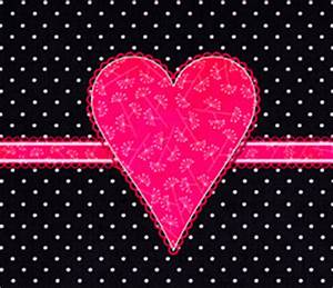 Black And Pink Heart Wallpaper | Letter a Studio