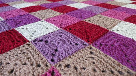 crochet blanket plummy solid square crochet blanket the really good life