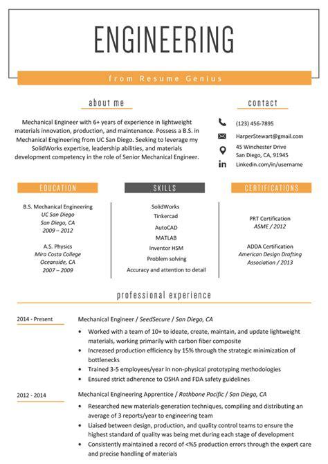 engineering resume  writing tips resume genius
