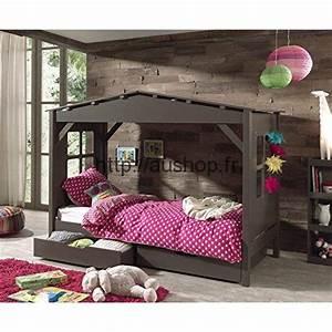 Cabane Enfant Chambre : lit cabane ps cher chambre enfant originale f erique ~ Teatrodelosmanantiales.com Idées de Décoration