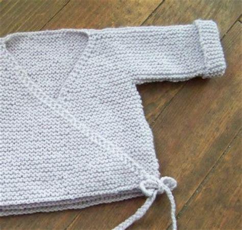 tricoter brassiere bebe debutant sweater