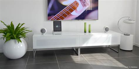 Meuble Tv Infrarouge by Norstone Khalm Blanc Meubles Tv Norstone Sur Easylounge