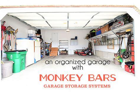 monkey bars garage floor garage organization