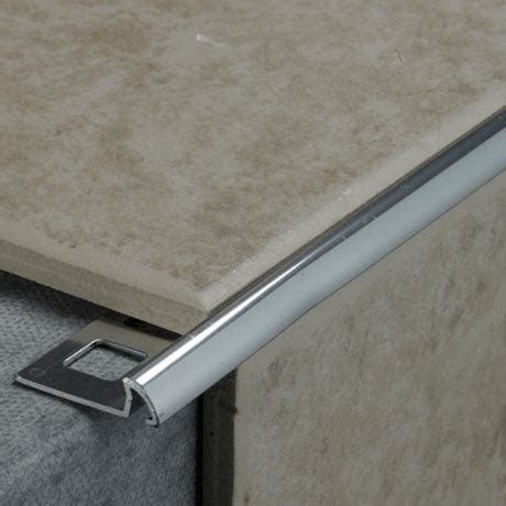 tile rite mm quadrant  edge metal tile trim silver