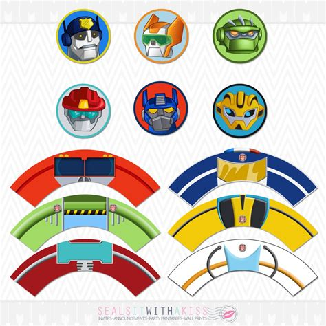 Transformer Cupcake Topper Template by Transformers Rescue Bots Cupcake Toppers And By