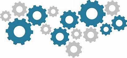 Clipart Gears Process Transparent Automation Gear Clip