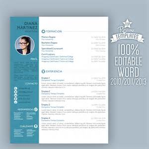 modern resume templates 2015 word modern creative cv resume template with cover letter blue colour topbusinesstemplates on artfire