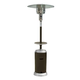 Garden Treasures Patio Heater Troubleshooting by Shop Garden Treasures 41 000 Btu Mocha Steel Floorstanding