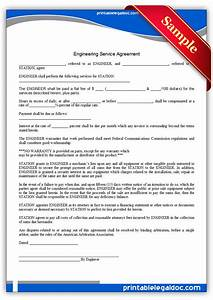 free printable engineering service agreement form generic With engineering services contract template