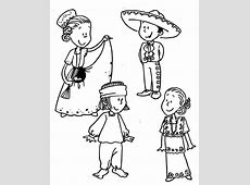 Mexican Traditional Dress Coloring Pages Global