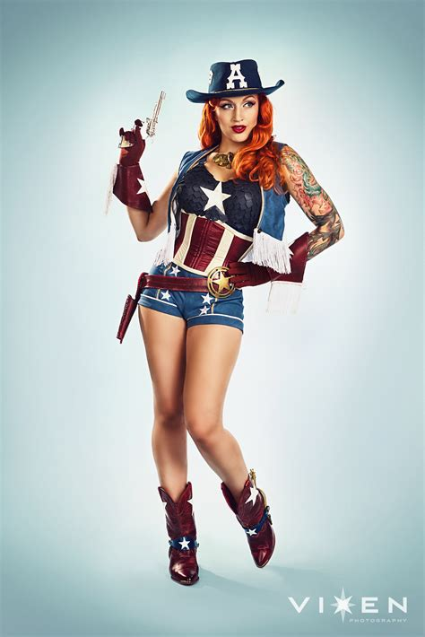 stephanie castro captain america  danger dame cosplay