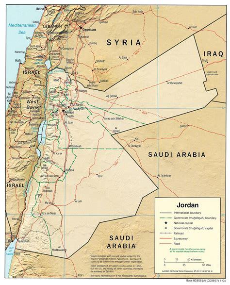 maps  jordan