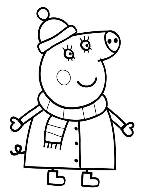 descargar gratis dibujos  colorear peppa pig