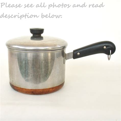 revere ware cookware  qt pan copper clad stainless steel