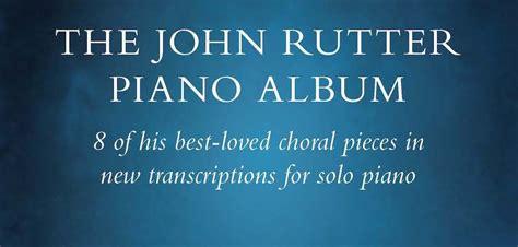 piano album john rutter sheet