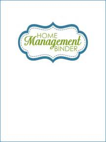 Printable Home Management Binder Cover Page