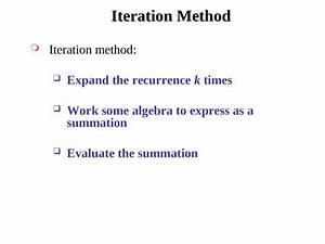 Analysis, Of, Algorithms, Chapter, -, 02, Recurrences