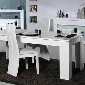 Chaise Table A Manger : floyd ensemble table manger 4 chaises de salle manger laqu blanc achat vente table ~ Teatrodelosmanantiales.com Idées de Décoration