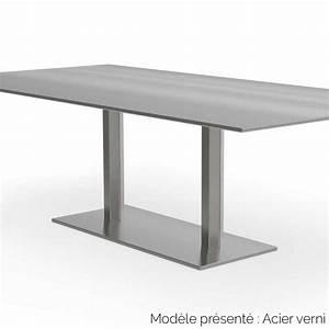 Table Metal Exterieur : table rectangulaire en m tal 2 pieds d 39 int rieur et d ~ Teatrodelosmanantiales.com Idées de Décoration