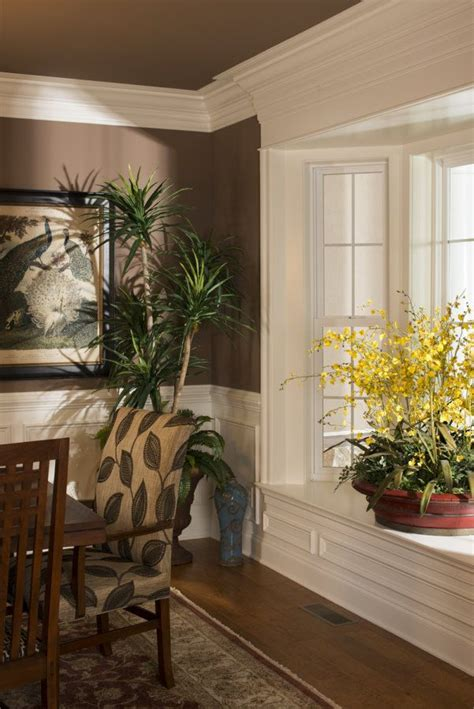Window Sill Chair by Dining Room With Large Crown Molding Paneling To Chair