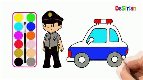 Gambar gambar mewarnai mobil polisi kumpulan gambar download lagu cara menggambar pak polisi how to draw a policeman mp3 mewarnai gambar mobil polisi. Mewarnai Gambar Polisi Lalu Lintas Kartun