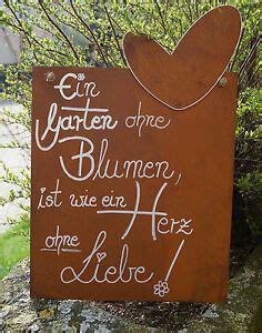 Herbst Im Garten Gedicht by Edelrost Spruchtafel Ein Garten Ohne Blumen Schild