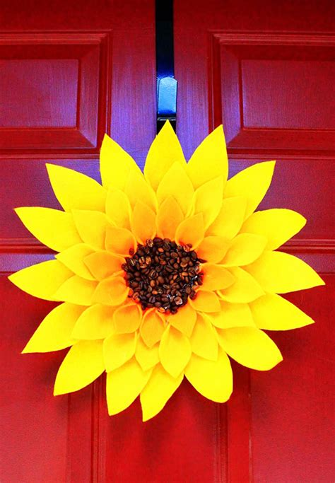 sonnenblumen selber basteln dansenfeesten